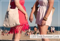 DIY TOTAL SUMMER LOOK made in Barcelona From t-shirt to dress and other inventions ;)