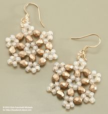 Beaded Snowflake Earrings Pattern: Gather Your Materials