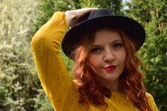 redheadedrogue, yellow, fashion, fashion blogger, nature, spring, redhead, bright