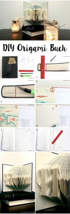 DIY Origami Buch falten  //  DIY Origami Book                                                                                                                                                                                 Mehr