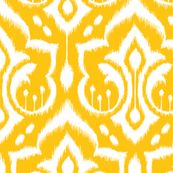 Ikat Damask - Golden Rod by pattysloniger