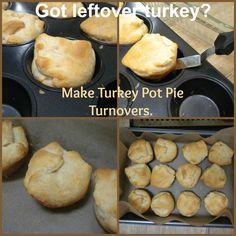 turkey pot pie turnovers