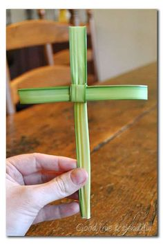 How to Make a Cross out of Palm Branch (with pictures!) • Good, True and Beautiful