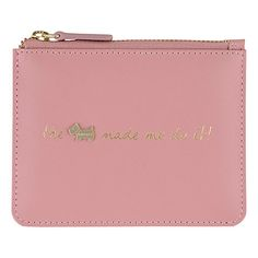 Buy Radley Excuses, Excuses! Leather Small Zip Pouch Purse, Pink Online at johnlewis.com
