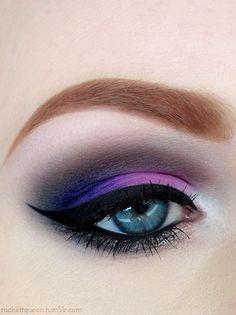 Purple eyeshadow #vibrant #smokey #bold #eye #makeup #eyes