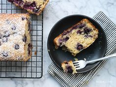 Moist from the applesauce, flavorful from the lemon zest and bursting with fresh blueberries, Blueberry Muffin Quick Bread is great way to start the day.