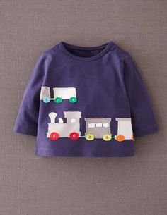 I've spotted this @BodenClothing Big Appliqué T-shirt Blue Trains