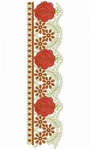 Beautiful Flower Flat Cording Lace Embroidery Design 23757 Small B, Lace Border, Lace Embroidery, Border Design, Machine Embroidery Designs, Beautiful Flowers, Outdoor Blanket, Flat, Motifs