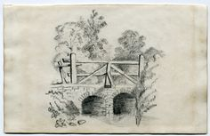 This is a pencil sketch artwork of a Bridge.