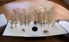 Pop-up forest by Robert Sabuda. Illustrated by Jon Klassen. Card plays forest sounds. For Motorola. notcot.org
