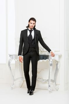 BA 2302-16 #sposo #groom #suit #abito #wedding #matrimonio #nozze #nero #black