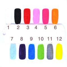 2g Nail Fuzzy Flocking Powder Nail Decoration Velvet Colorful Velvet for Nail Art UV Gel Polish Tips 5bags