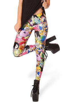 Bring a smile on your own face, with this comic legging.