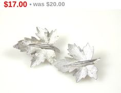 Vintage Marcel Boucher Maple Leaf Earrings by TheFashionDen