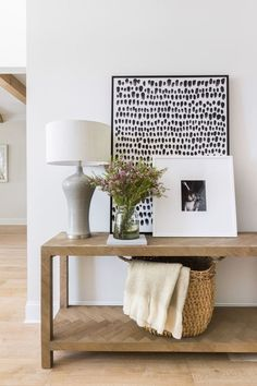 sweet home Black Dots Framed Artwork atop the Lamar Console Table at the Hilltop House Cute Dorm Rooms, Cool Rooms, Sweet Home, Diy Home Decor, Room Decor, Decor Inspiration, Decor Ideas, Decorating Ideas, Large Artwork