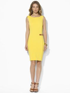 Sleeveless Boatneck Dress - Short Dresses   Dresses - RalphLauren.com
