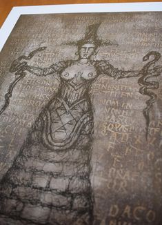 Serpent Goddess PencilBlack Digital print Premium Satin | Etsy #serpent goddess #knossos #crete #snakes #archaeology #drawing #ancient greece Thanks For The Gift, Minoan, Ancient Greece, Crete, Snakes, Paper Size, Occult, Archaeology, Giclee Print