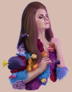 Daydream with Lana Del Ray #lanadelray #illustration #digitalart