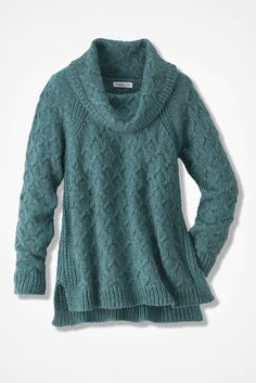 Cable Cowl Neck Pullover - Sweaters | Coldwater Creek