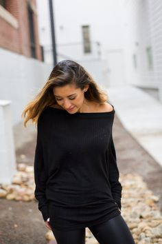 "We are dying over this top!! Light weight. Batwing sleeves. Versatile wear. Off one shoulder, both shoulders or slouched in front.      65% Polyester 35% Rayon    $38    TBLBabe 5'5 wearing size small    **ALWAYS FREE Shipping** Use code FREESHIP in ""do you have a discount code    Xx Liv 
