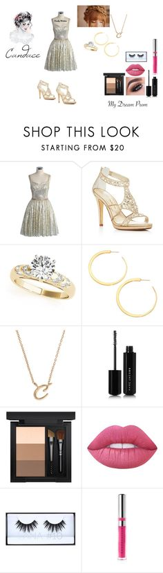 """""""Candace Prom"""" by gabilovegood ❤ liked on Polyvore featuring Chicwish, Caparros, Vita Fede, Anne Klein, Marc Jacobs, MAC Cosmetics, Lime Crime, Huda Beauty and Chantecaille"""