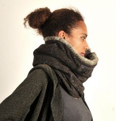 Hey, I found this really awesome Etsy listing at https://www.etsy.com/listing/163372673/fur-cowl-hooded-cowl-scarf-snock-wool