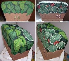 Do You Need a Garden Decor Idea? Paint a Year-Round, Reversible Address Stone (lots of info here on painting rocks) Painted Pavers, Painted Rocks Craft, Hand Painted Rocks, Brick Crafts, Brick Art, Garden Crafts, Garden Art, Garden Ideas, Rock And Pebbles