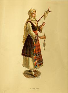 Φορεσιά Αιδηψού. Costume from Aidipsos.Collection Peloponnesian Folklore Foundation, Nafplion. All rights reserved.