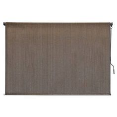 Coolaroo Walnut Cordless Light Filtering Fade Resistant Fabric Horizontal Roller Shade 96 in. W x 96 in. - The Home Depot Metal Pole, Outdoor Sun Shade, Solar Shades, Steel Fence, Light Filter, Decor Pillows, Shades Blinds, Outdoor Curtains, Pools