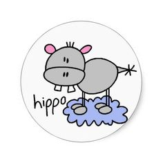 Shop Hippopotamus Stickers Sticker created by stick_figures. Easy Drawings, Doodle Drawings, Doodle Art, Drawing For Kids, Painting For Kids, Funny Brother Birthday Cards, Stick Figure Drawing, Doodle People, Funny Doodles