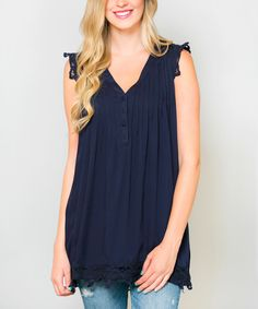 Sawyer Cove Navy Geselle Tunic #zulily *cute
