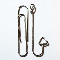 Tutorial on how to make a cute little fish hook out of a paperclip. Use on cards, scrapbook pages, tags, etc.