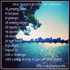 Link to the At home HIIT Workout Fitness Post