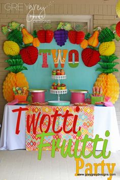 GreyGrey Designs: {My Parties} Avery's Two-tti Fruitti Party