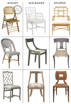 Casual dining room chairs.