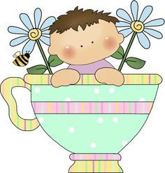 Tea Anyone with honey Clip Art, Decoupage, Painting Templates, Whiskers On Kittens, Gif Animé, Happy Art, Paper Piecing, Beautiful Images, Cute Kids
