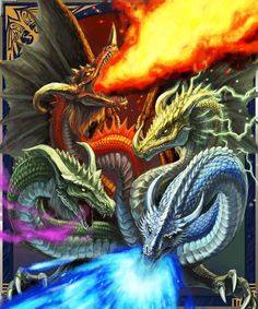 dragons at war Dragon Horse, Dragon Art, Magical Creatures, Fantasy Creatures, Fantasy World, Fantasy Art, Dragons Den, Dragon Pictures, Dragon Images