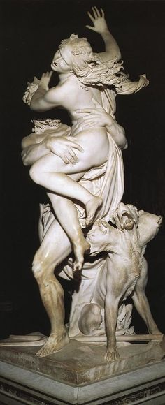 Notice how different the scene appears depending on your viewpoint. From here, all the viewer can see is Persephone, and she seems almost weightless. Object located in the Galleria Borghese, Rome, Italy Sculpture Du Bernin, Sculpture Romaine, Bernini Sculpture, Baroque Sculpture, Baroque Art, Renaissance Kunst, Art Occidental, Art Database, Classical Art