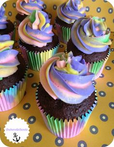 Hippy Cupcakes, Multi-Colored Cupcakes