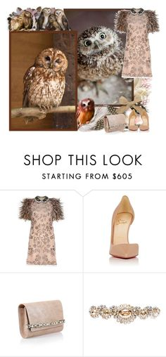 """Feathers"" by asia-12 ❤ liked on Polyvore featuring Valentino, Christian Louboutin, Jimmy Choo, Miu Miu and Roberto Cavalli"