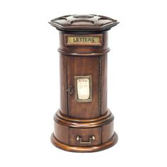 A Mahogany Country House Pillar Post Box