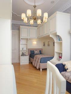 Bedroom Built Ins, Small Room Bedroom, Kids Bedroom, Bed For Girls Room, Study Room Decor, Kitchen Room Design, Decoration, Room Inspiration, Guest Room
