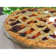Summer is Here Triple Berry Peach Pie