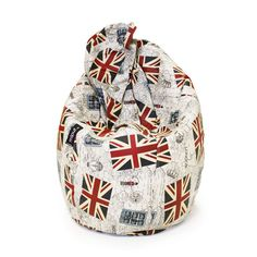 Puf Pera Super M Estampado British Flag