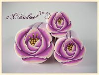 "Fimo Cristalline, tuto et bijoux en polymère: Tutoriel : ""canne rose"""