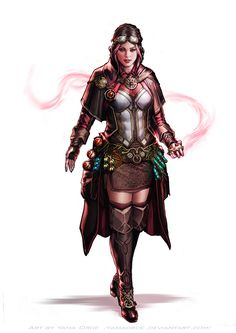 Selka Dolokra comm by YamaOrce female steampunk alchemist