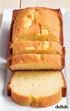 Sometimes simple is best. Get the recipe at Delish.com. #poundcake #classic #dessert #easy #recipes #oldfashioned