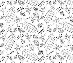 Ebony Flora fabric by pattysloniger on Spoonflower - custom fabric