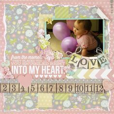 simple stories hello baby layouts - Google Search