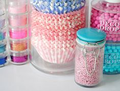 Great way to keep baking supplies and silicone cupcake liners
